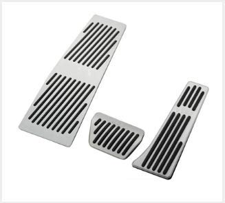 for BMW X1 E30 E36 E87 E46 E90 E91 E92 E93 Accelerator No Drill Non-Slip Performance Car Rest Pedal Brake and Gas Pedal Covers Accessories Replacement Pedal Aluminum Alloy Pedals Set MT 4Pcs