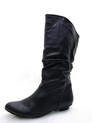 Depeche et fausse fourrure chaussures bottes chaussures pour femme