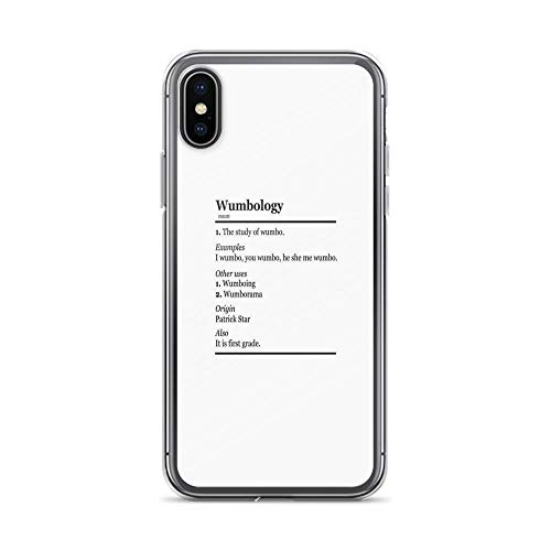 iPhone X Case iPhone Xs Case Clear Anti-Scratch Wumbology Cover Phone Cases for iPhone X/iPhone Xs, Crystal Clear -