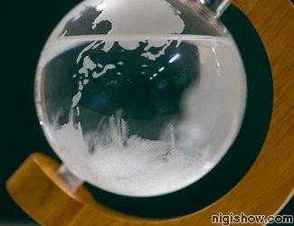 Storm Glass Weather Forecast Toy Interior Decor Globe