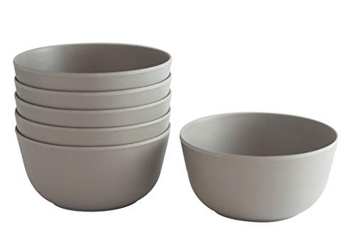 Bowls- Set of 6-20 oz. (600 ml) each (Gray) ()