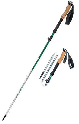 Vertex Compact and Ultralight Collapsible Carbon Hiking and Trekking Poles, Cork Handle, Pair