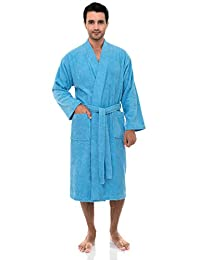 TowelSelections Men's Turkish Cotton Robe Kimono Terry Bathrobe Made in Turkey