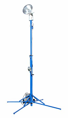 Portable Light Tower - 1000 Watt Metal Halide - Covers 23,000 SF - Extends to 12 feet(-240 Volts) by Larson Electronics