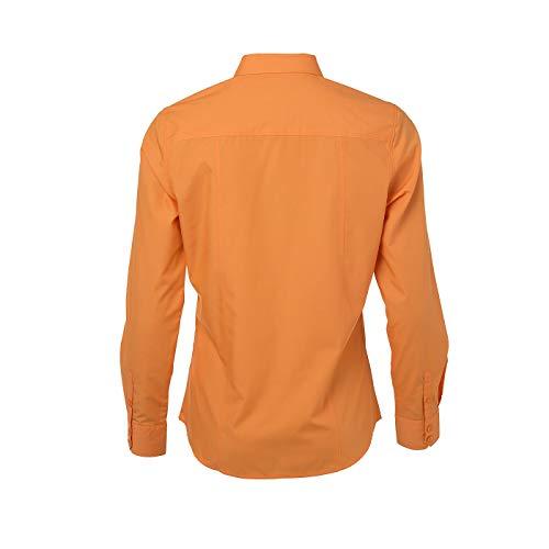 amp; NICHOLSON JAMES Popeline Orange Easy M avec Chemise Care Finition Femme Classique pCwq5d7w