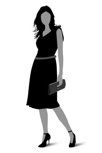 Picard, Poschette giorno donna Nero nero 29 x 12 x 2 cm (L x H x T)