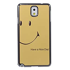 LZX Have a Nice Day Pattern Aluminum&Plastic Hard Back Case Cover for Samsung Galaxy Note3 N9000