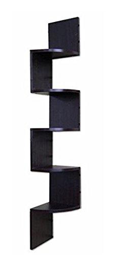 espresso corner shelves - 1