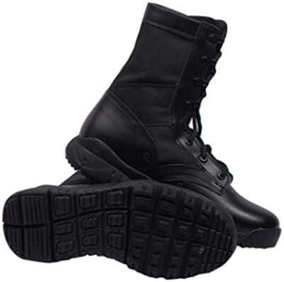 滑り止めのレースアップスタイルの輝き、耐久性、通気性屋外用男性と女性トレッキングシューズレザーステッチネットラバーソールのためのブーツをハイキング (色 : 黒, サイズ : 26 CM)