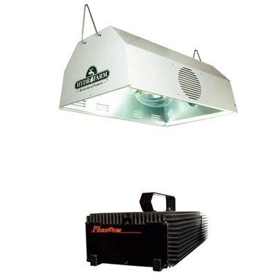 Hydrofarm Daystar Reflector & Phantom Dimmable Digital Ballast Grow Light System Combo 400 Watt (Phantom 400 Watt Ballast)