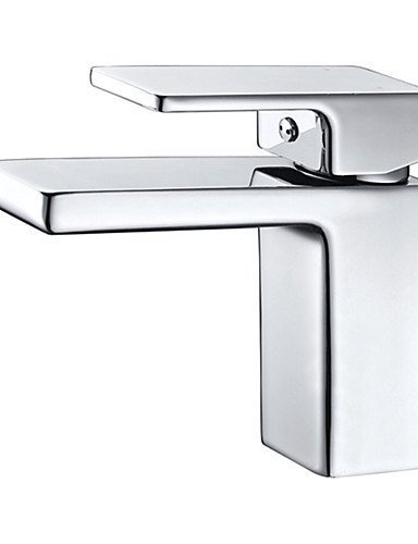 Ling@ Basin mixer Art Deco Single Handle One Hole in Chrome Bathroom Sink Faucet , white - Art Deco Faucets