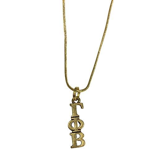 Gamma Phi Beta Gold Color Sorority Standard Lavalier Necklace gamma - Of Shades California Honolulu