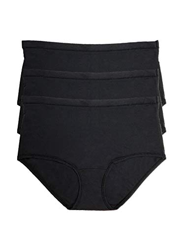 Felina Women's Blissful Ultra-Comfort Brief 3-Pack Black/Black/Black 1X / - Lace Felina Briefs