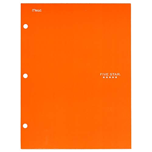 Five Star 4 Pocket Folder, 2 Pocket Folder plus 2 additional Pockets, Orange (72101)