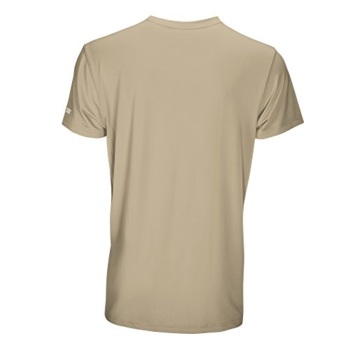 Arctic Cool Men's Pocket Workwear Instant Cooling Shirt with UPF 50+ Sun Protection, Khaki, XL