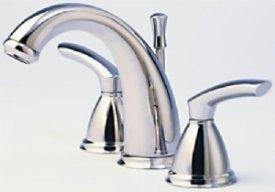 (Santec Faucets 4120BL75 Santec Widespread Lavatory Satin Nickel)
