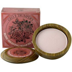 Geo f. Trumper Rose Hard Shaving Soap Wooden Bowl