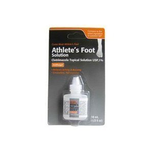 Clotrimazole, AF Antifungal Athletes Foot Topical Solution 1 Percent (Generic Lotrimin) - 10 Ml (Pack of 2) by Clotrimazole