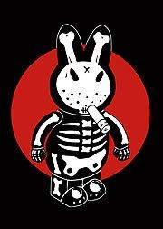 Artist Frank Kozik Bone Bunny Fridge Magnet for sale  Delivered anywhere in USA