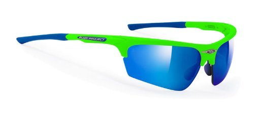 Rudy Project Noyz Green Fluo Frame With Multilaser Blue - Rudy Noyz Sunglasses