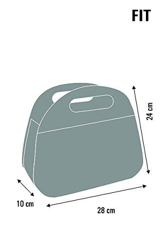 Bertoni Mädchen Kindertasche Lunchtasche Handtasche Filz Katze Filztasche Grau