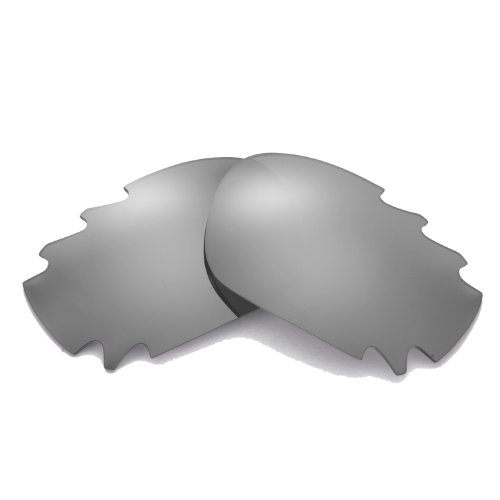 Walleva Replacement Vented Lenses for Oakley Jawbone Sunglasses - Multiple Options Available (Titanium Mirror Coated - Polarized)