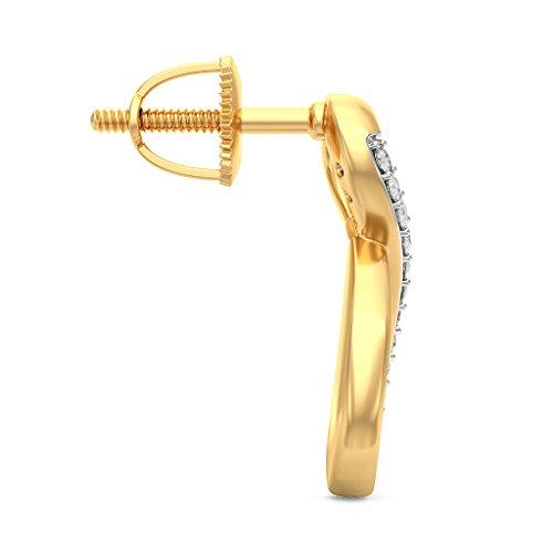 Or jaune 18K 0.11CT TW White-diamond (IJ | SI) Boucles d'oreille à tige