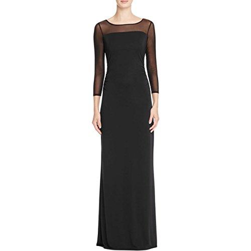 long black matte jersey dress - 2