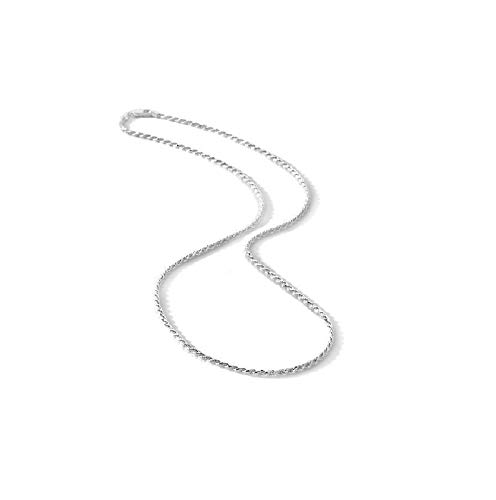 Italian Diamond Cut Rope Chain 1.8MM Wide-Nickel Free Necklace 925 Sterling Silver 16