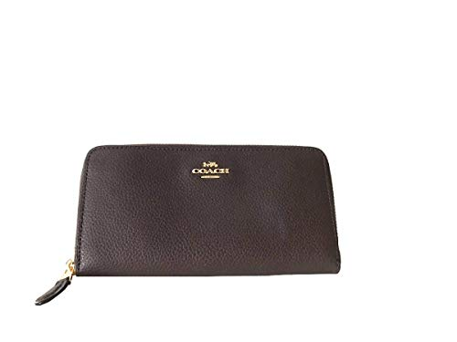 Coach Pebbled Leather Accordian Zip Wallet Clutch - - Coach Pebbled