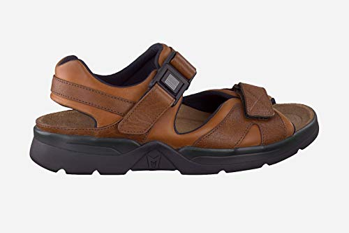 Mephisto Men's Shark Sandals Chestnut Waxy/Tan Grain Leather 13 M US
