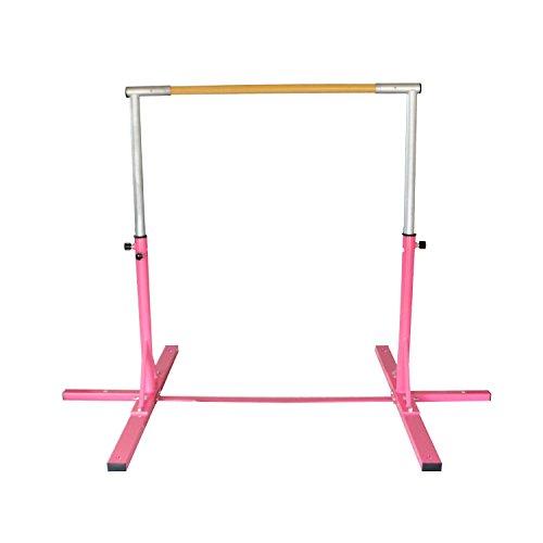 New Nimble Sports Pink Adjustable Horizontal Bar Normal Gymnastics Mat Combo