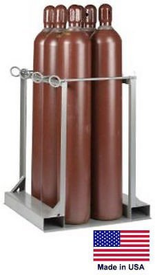 Streamline Industrial CYLINDER STAND PALLET for LP Propane Welding Gases Compressed Air - 6 Tank Cap