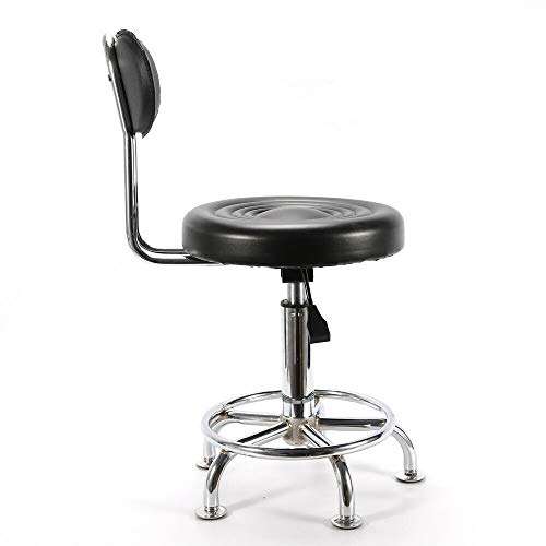 akasaw98 Adjustable Hydraulic Swivel Stool for Spa Salon Seat with Back Rest