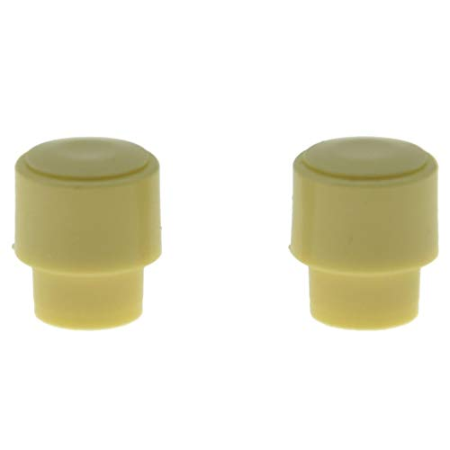 KAISH Pack of 2 Barrel Switch Tip 3 Way or 4 Way Pickup Selector Switch Knobs for U.S. Tele/Telecaster Ivory (Switch Telecaster Tip)