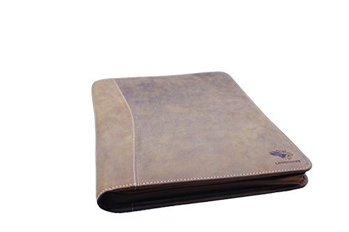 Professional Horse Zipper Business Portfolio Crazy by RFID Lowenherz Safe Genuine Brown Leather Organizer Premium With UHqwpRYg