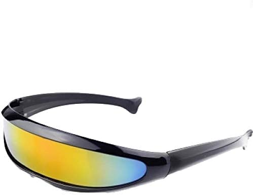 gfdssdfvcx Lente de Espejo futurista Gafas de Sol estrechas de ...