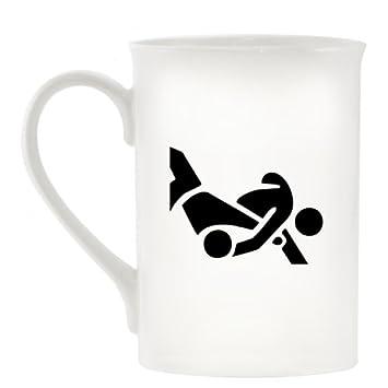Judo Atletismo símbolo diseño taza de porcelana: Amazon.es: Hogar