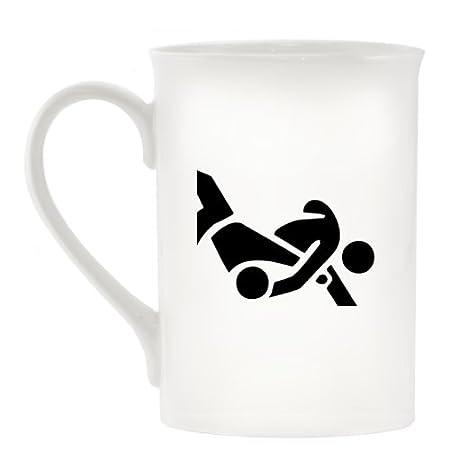 Judo Atletismo símbolo diseño taza de porcelana: Amazon.es ...