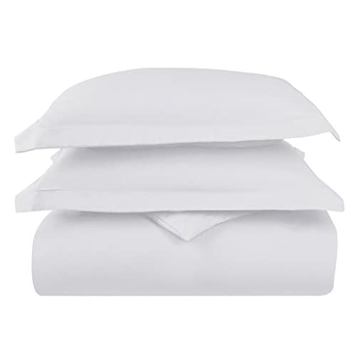 Hot Lavish Linens 100% Cotton 1 Piece Duvet Cover Solid (Full/Queen, White) - 600 Thread Count - Hypoallergenic, Luxury Quality Soft, Comfortable Fade Stain Resistant