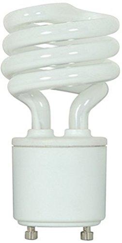 Satco S8203 13 Watt (60 Watt) 800 Lumens Mini Spiral CFL Soft White 2700K GU24 Base Light Bulb -