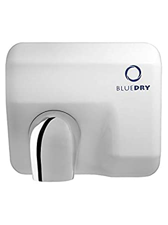 BLUEDRY Blue Storm Electric Automatic Rotating Nozzle Hand Dryer (White)