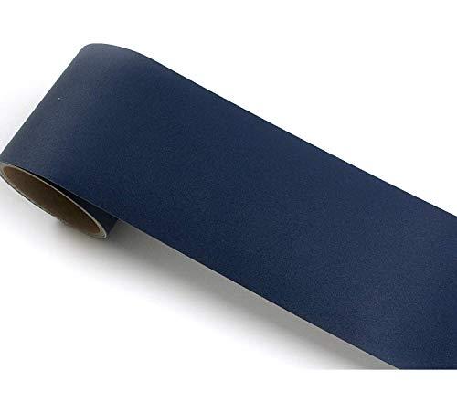 ROSEROSA Peel and Stick Decorative PVC Solid Instant Self-Adhesive Border Sticker Slate Blue (SG51B : 3.93 inch X 16.40 feet)