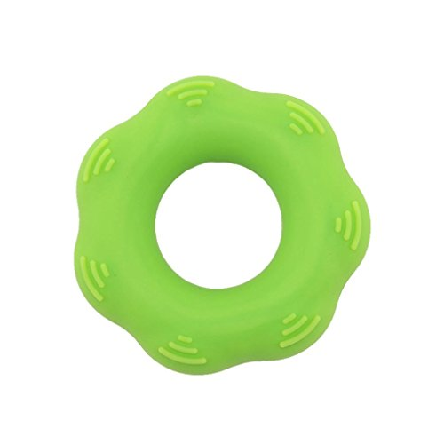 Price comparison product image Yeefant Durable Strength Gear Shaped Finger Hand Grip Muscle Power Training Rubber Ring Exerciser Silicone, Increase Finger Dexterity,  Promote Blood Circulation,  0.23x0.23x0.06 Ft, Light Green