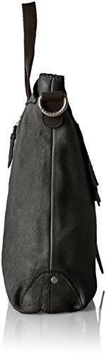 Taschendieb Td0803 - Bolso de hombro Mujer Negro (Anthrazit)