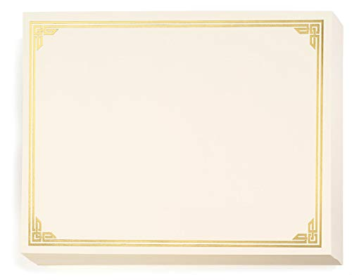 Gold on Cream Classic Specialty Certificates, 8½ x11, Foil Accents, 50 Count