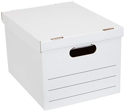 (AmazonBasics Storage/Filing Boxes with Lift-Off Lid, Basic Duty, Legal/Letter,)