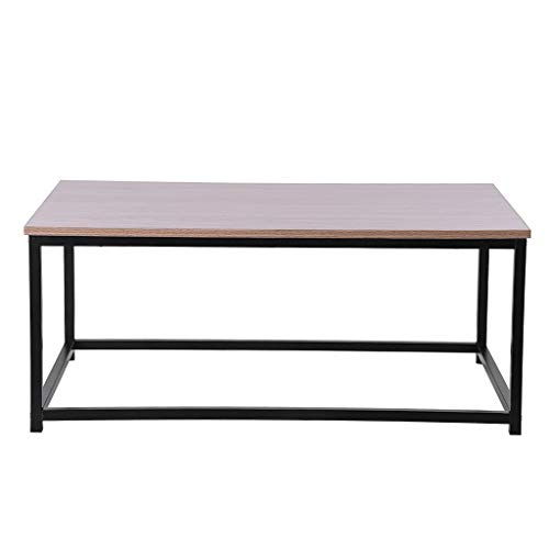Clearance Sale!DEESEE(TM)Metal Baking Varnish Coffee Table Rectangle TV Stand Vintage Cocktail End - Mirror Contemporary Simple Solution