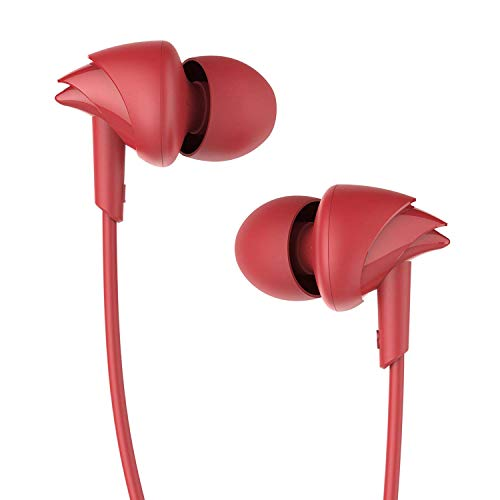 boAt Bassheads 100 in Ear Wired Earphones with Mic(Furious Red)