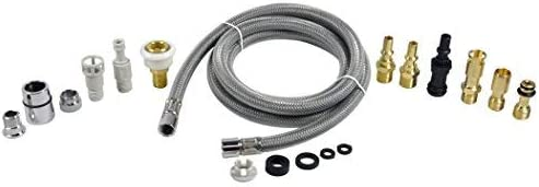 """Replacement Hose For Kitchen Pull Out Faucet Spout Universal Chrome,Nylon 57 /"""" L"""